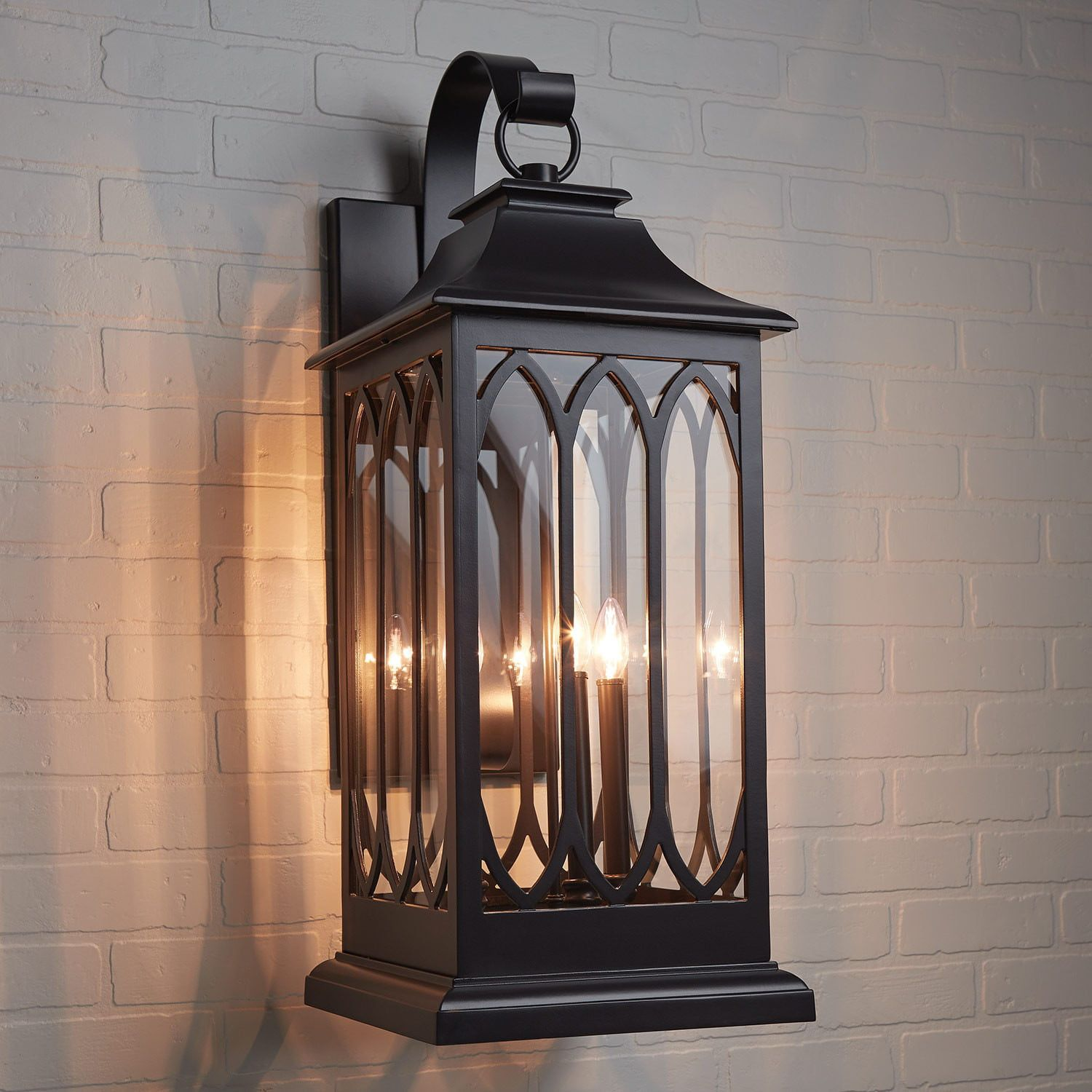 Stonehouse 3 Light Outdoor Entrance Wall Sconce Smooth Bronze Outdoor Wall Sconce Wall Sconce Lighting Sconces