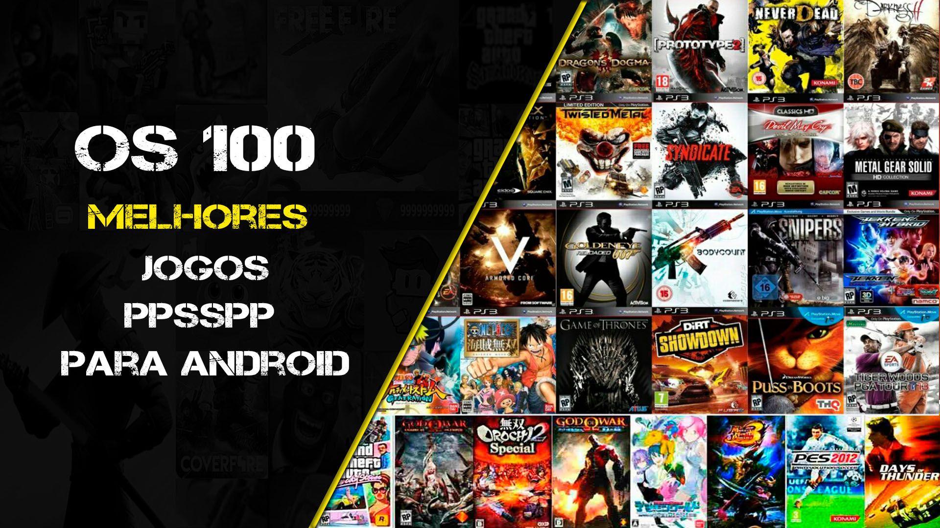 Os 100 Melhores Jogos Ppsspp Jogos Psp Para Download Android