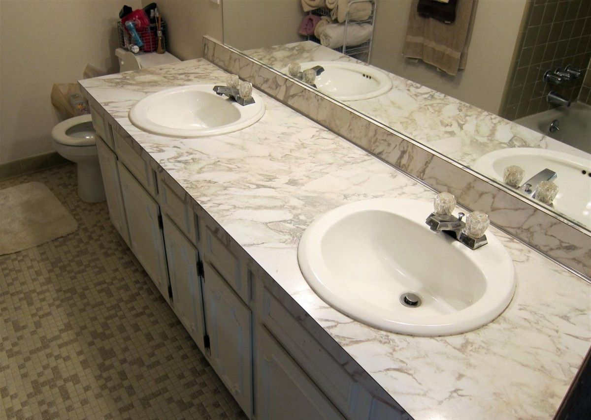 White Bathroom Countertops With Images Home Depot Bathroom