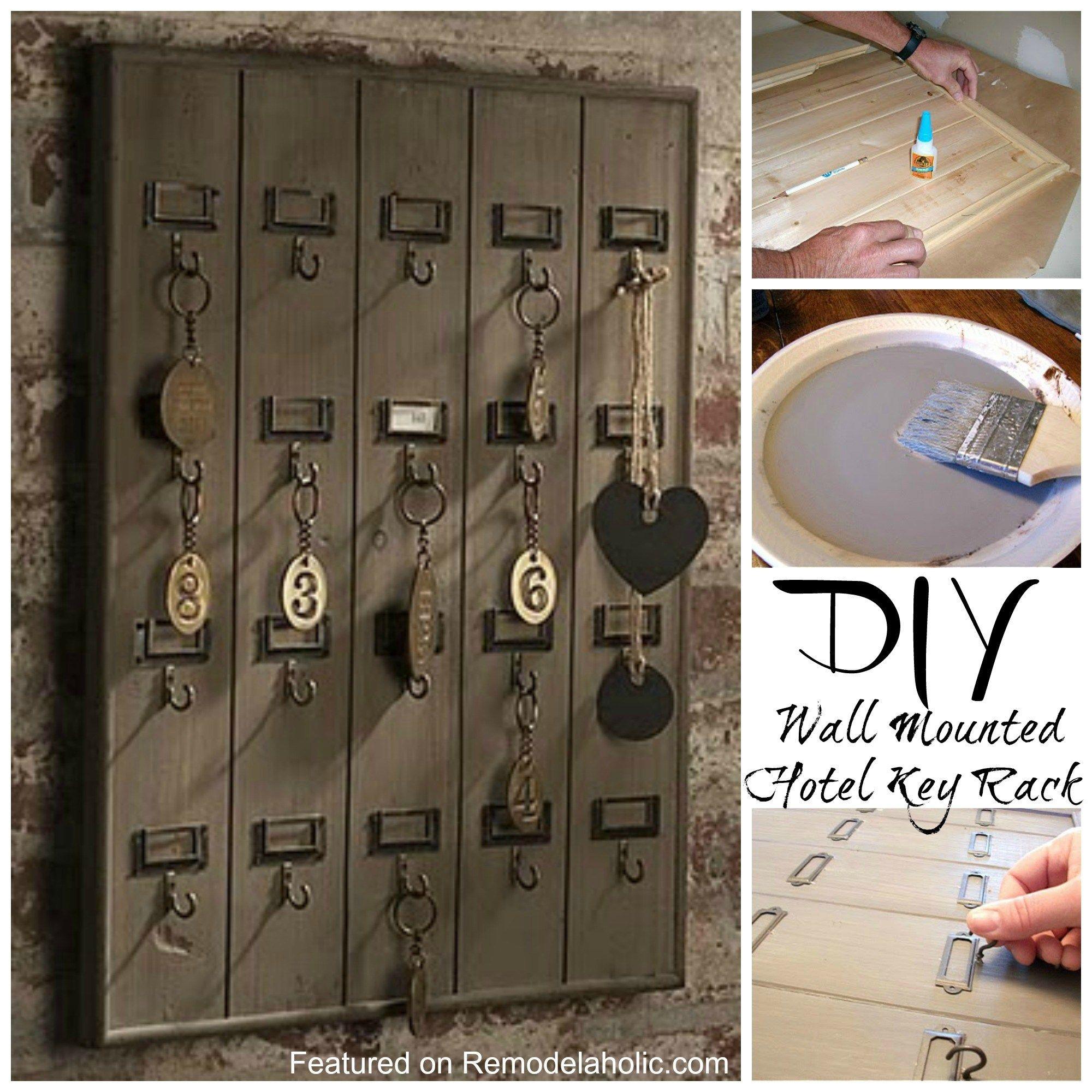 Diy Wall Mounted Wooden Hotel Key Rack Tutorial Key Rack Key