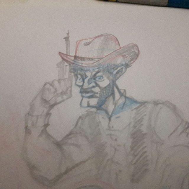 Today drawing 2 :second cowboy #comics #cartoonstyle #cartoons #DGDOdraw #cartoon #doodles #girl #comic #dailysketch #dessiner #dessins #dibujo #dibujos #drawn #drawing #handdrawn #illustration#pencil #cowboys#cowboy #drawings #sketch #sketchbook #sketches