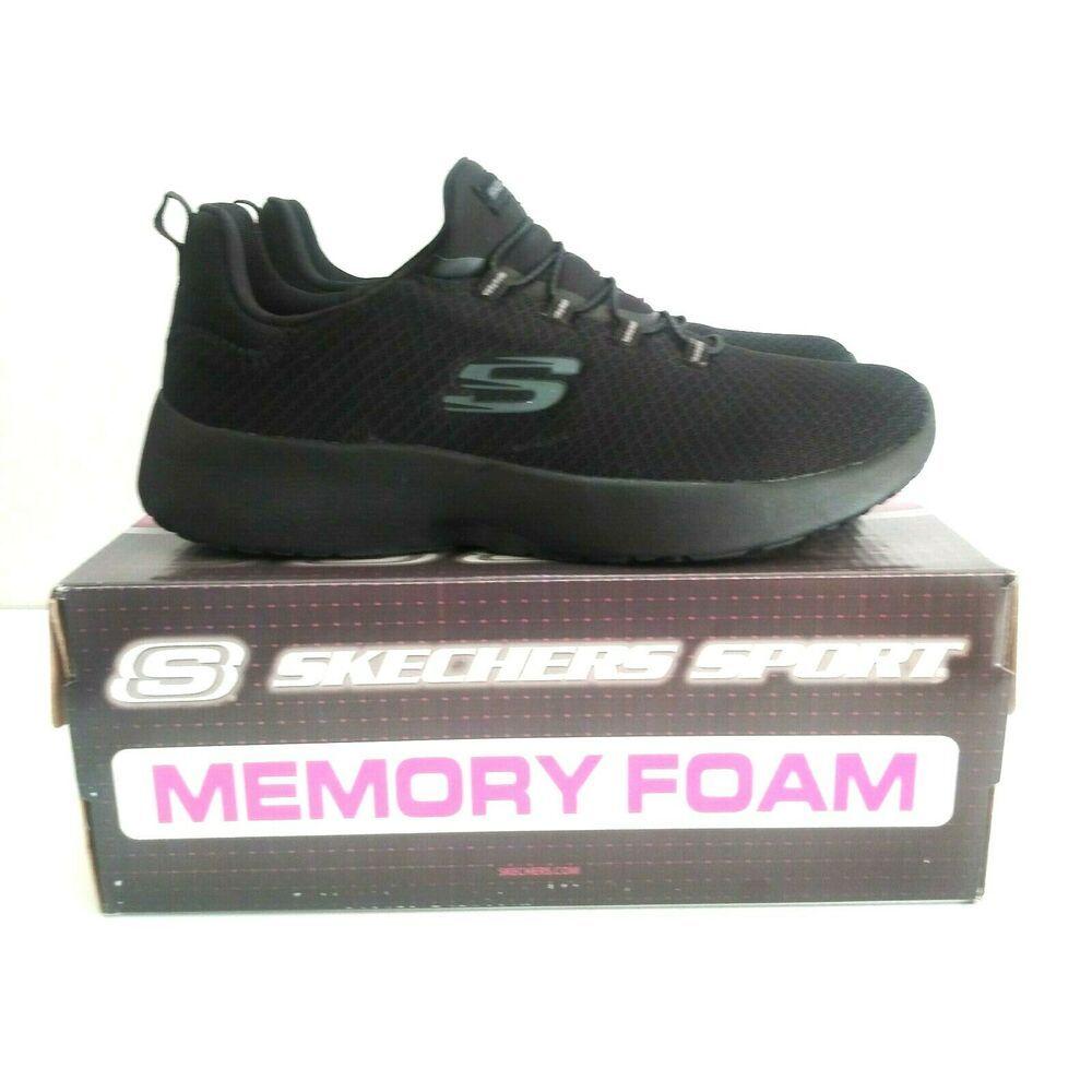 Skechers Dynamight 12119 Womens Black Memory Foam Comfort Sneaker