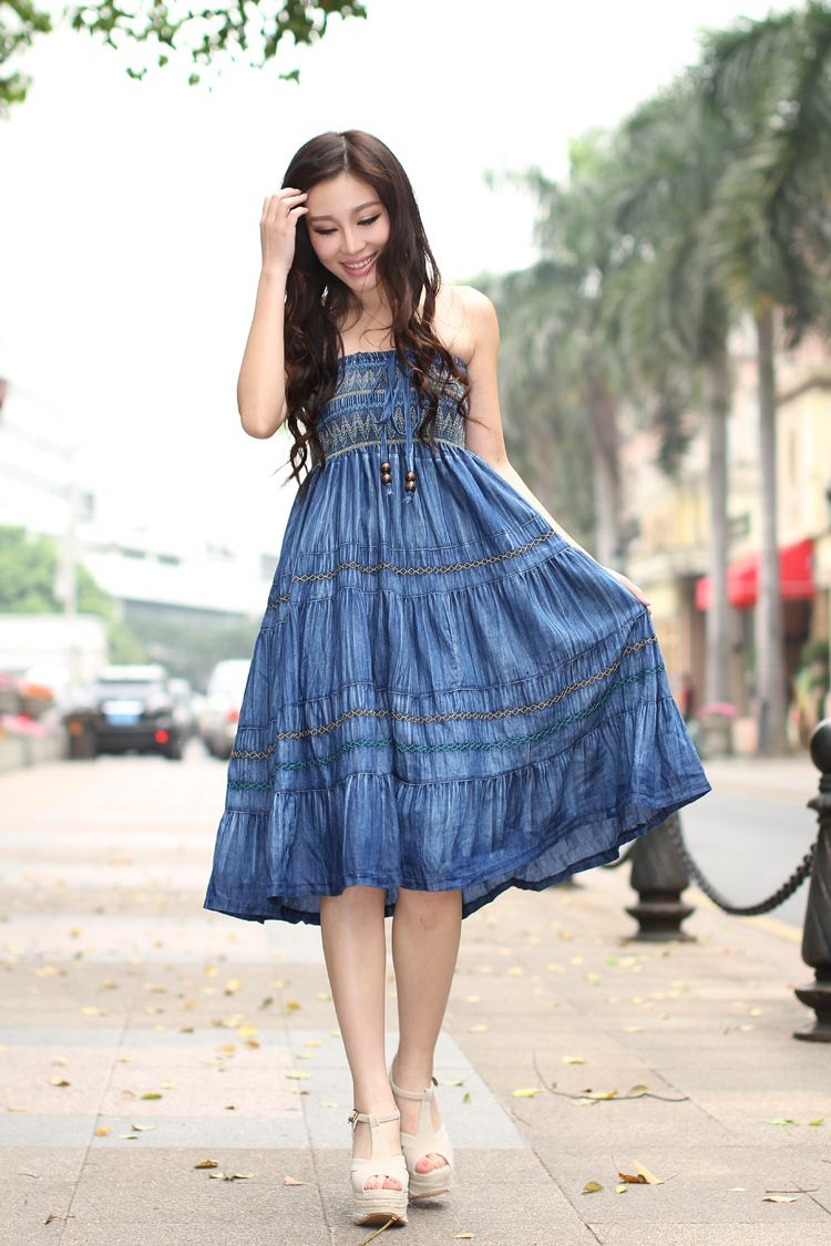 Free-shipping-2014-vintage-summer-women-Korean-style-fashion-denim ...