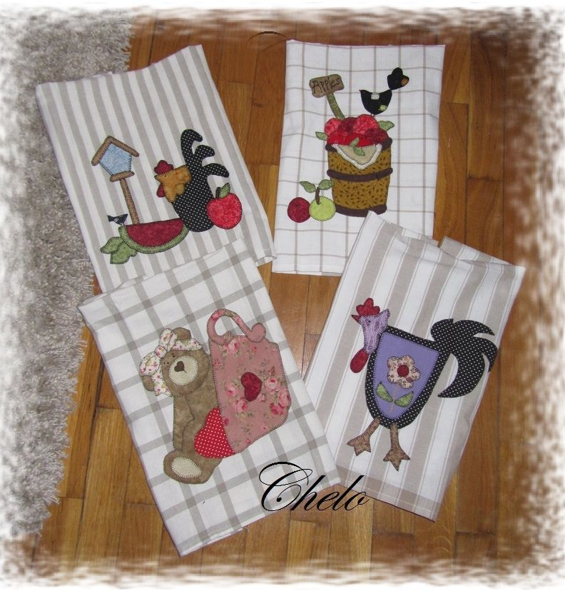 El rinc n de chelo unos pa os de cocina costura pinterest patchwork towels and patches - Patchwork para cocina ...