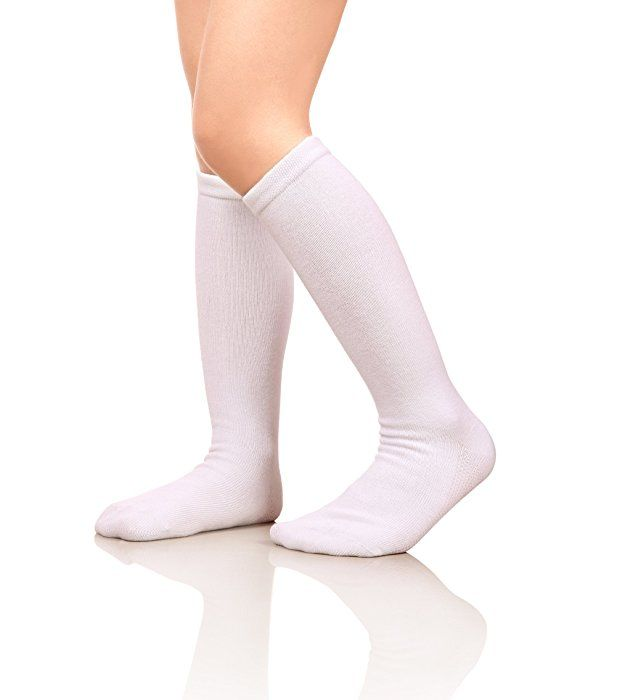 fce0fde59 Amazon.com  MIUBEAR Girls Cotton Knee High Socks School Girls Uniform  Soccer Sport Socks