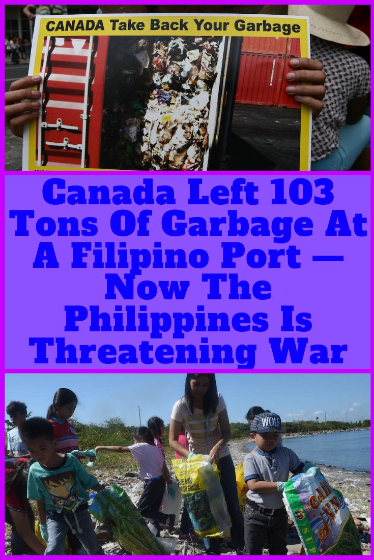 The Philippines has been raising a stink over Canada's