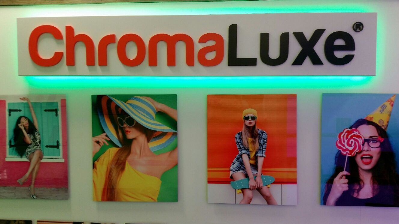 Part of our ChromaLuxe display in our Inspiration Suite at Xpres HQ.
