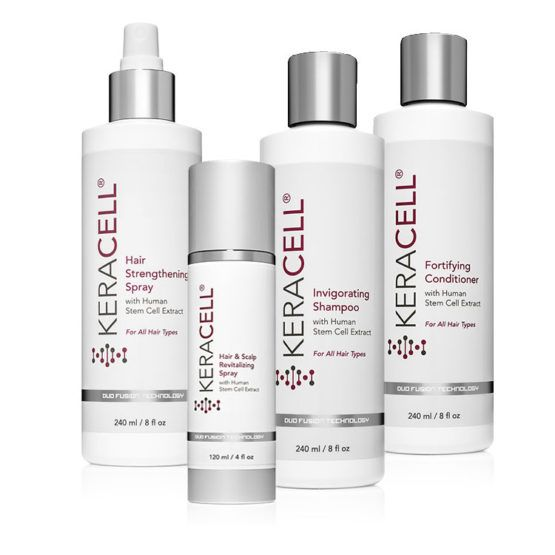 The KERACELL Hair & Scalp Revitalzing System Helps To