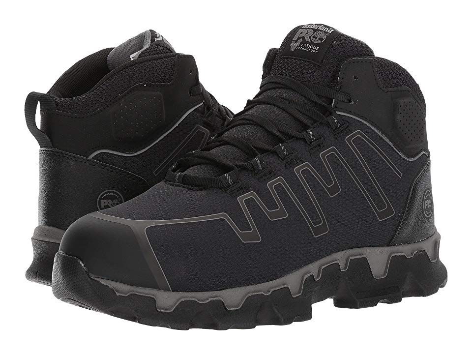 2956b9e49b49 Timberland PRO Powertrain Sport Mid Alloy Safety Toe EH Men s Industrial  Shoes Black Ripstop Nylon