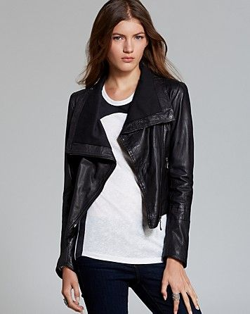fc55a01d Quotation: Doma Jacket - Asymmetric Washed Leather | Bloomingdale's ...
