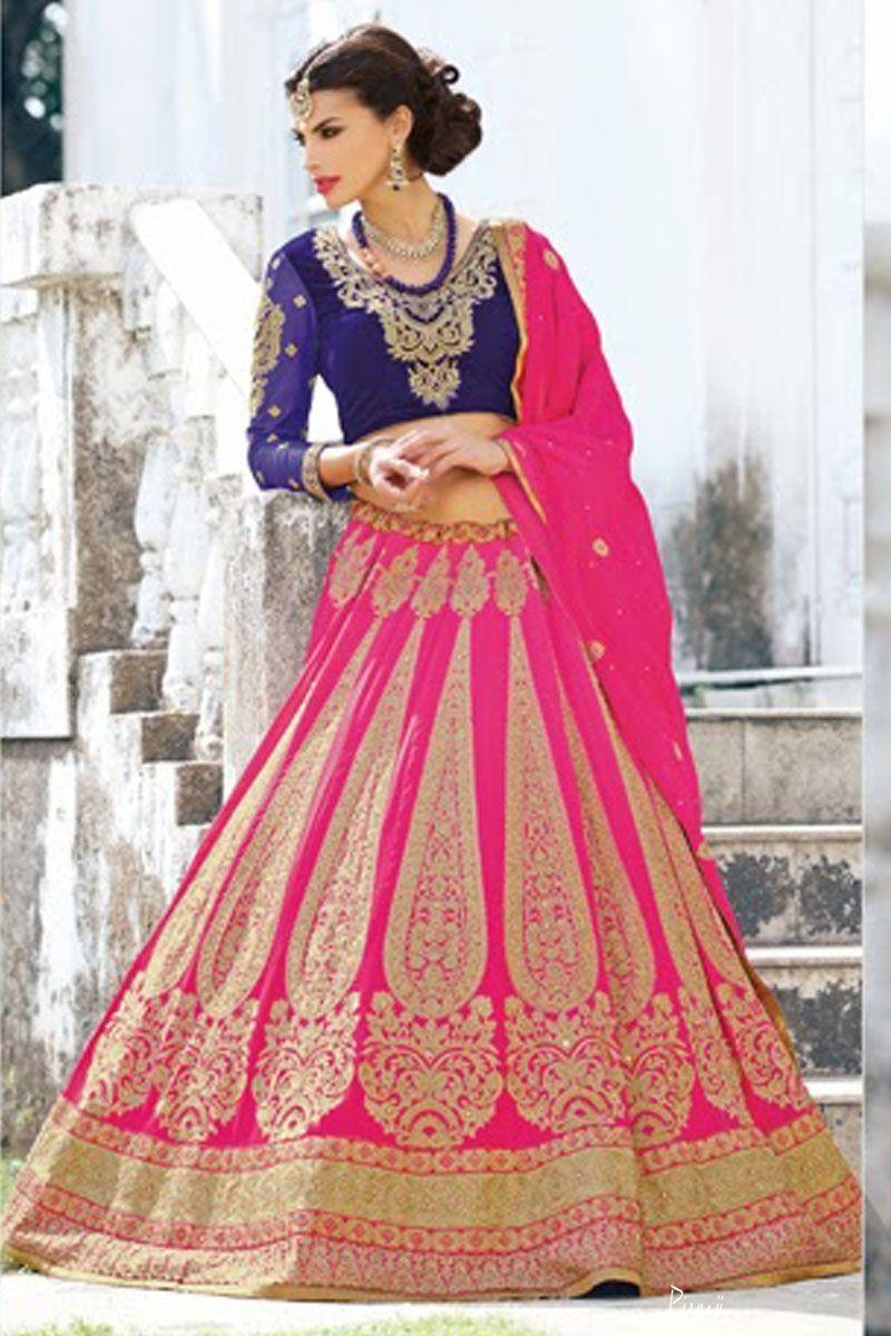 pink and blue lehenga choli | Wedding Bridal Lehenga Choli Online ...