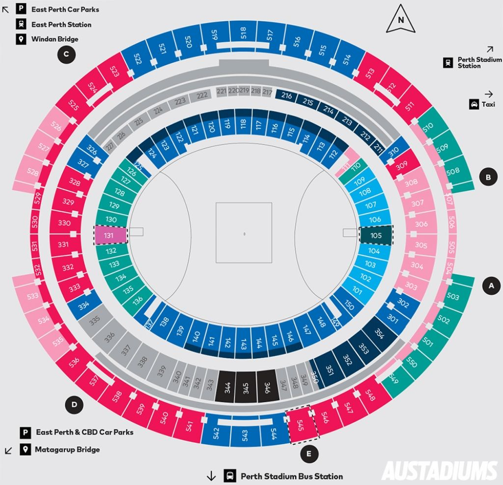 Optus Stadium Seating Map Perth Stadium Austadiums With New Perth Stadium Seating Plan Newperthstadiumseatingmap Perthstadiumseatingplancricket Perthstadium Di 2020