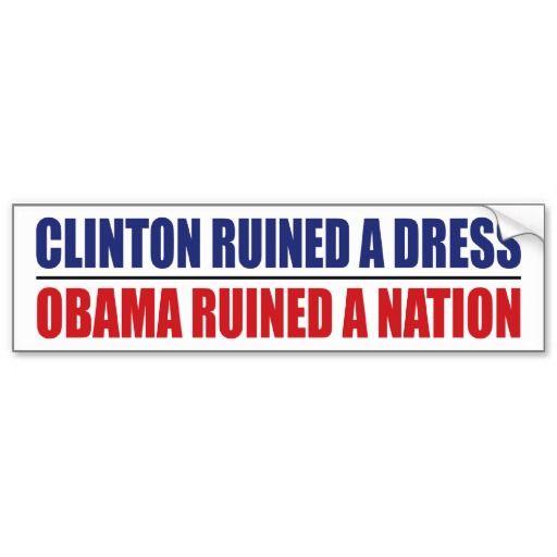 Obama Ruined A Nation Bumper Sticker