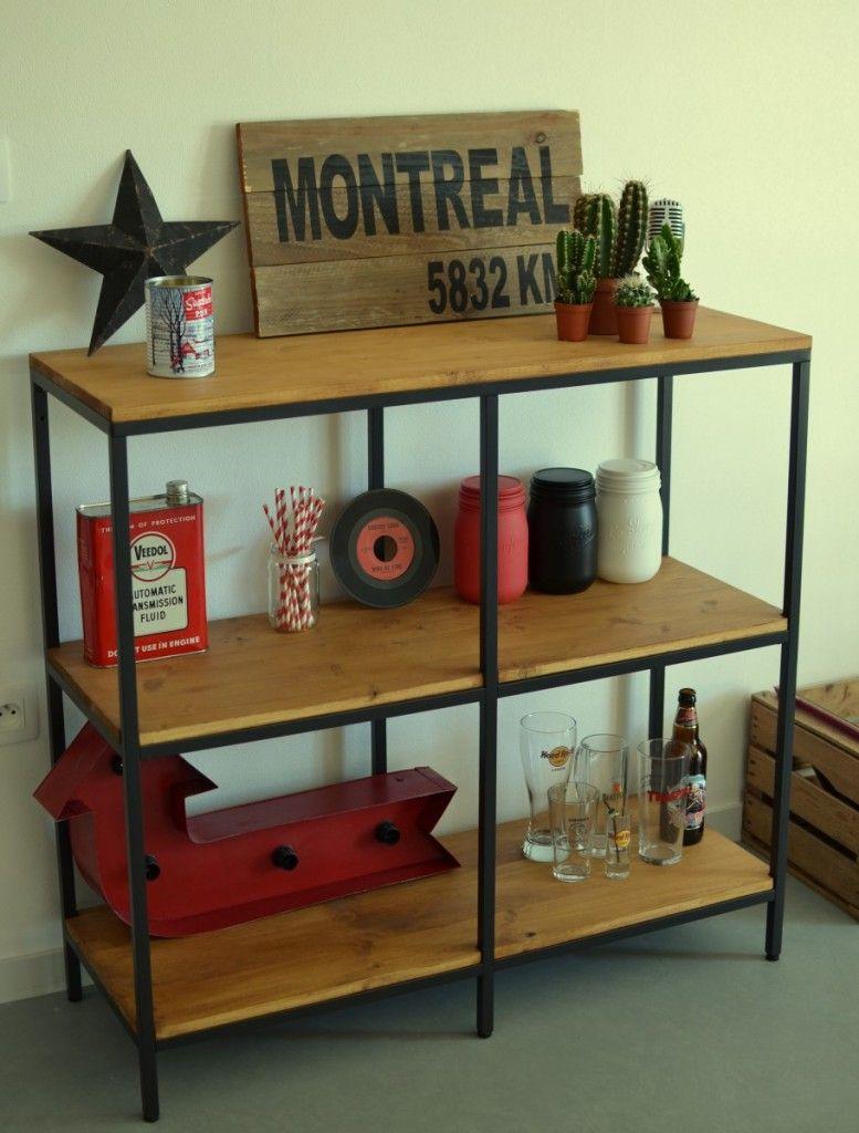 pour un meuble style industriel bois sans craquer ses. Black Bedroom Furniture Sets. Home Design Ideas