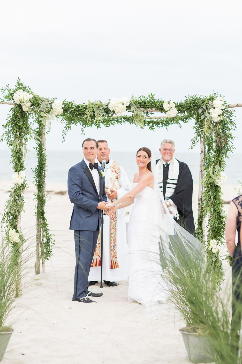 Elegant Black Tie Hamptons Beach Wedding