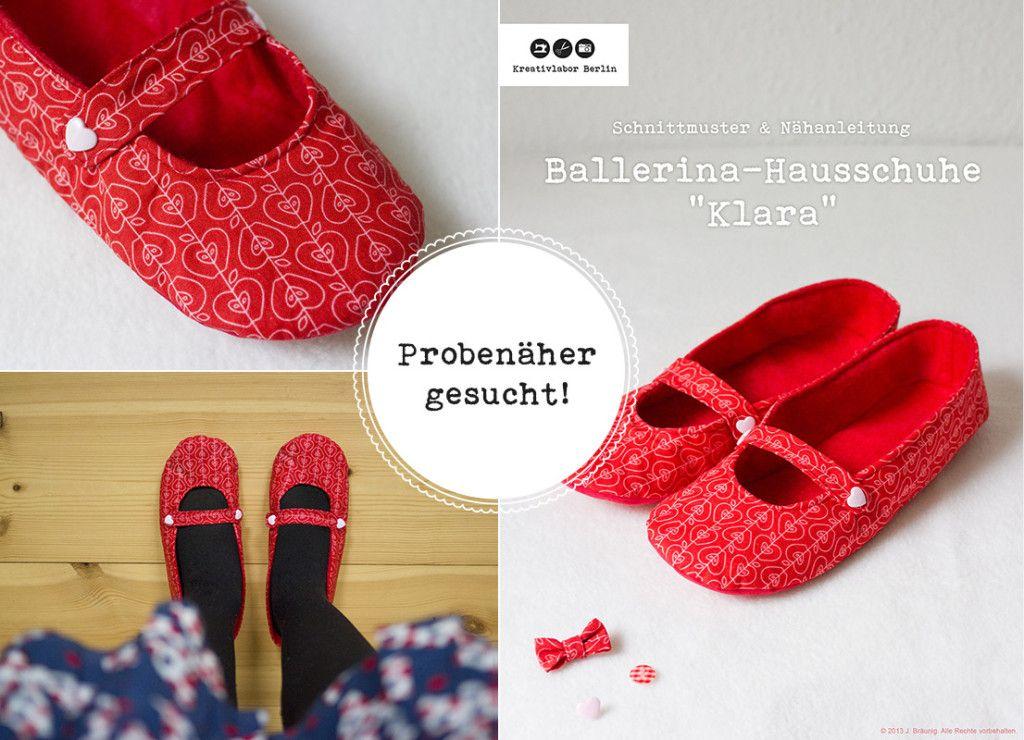 Hausschuhe Nähanleitung - Freebook   great   Pinterest   Nähen ...