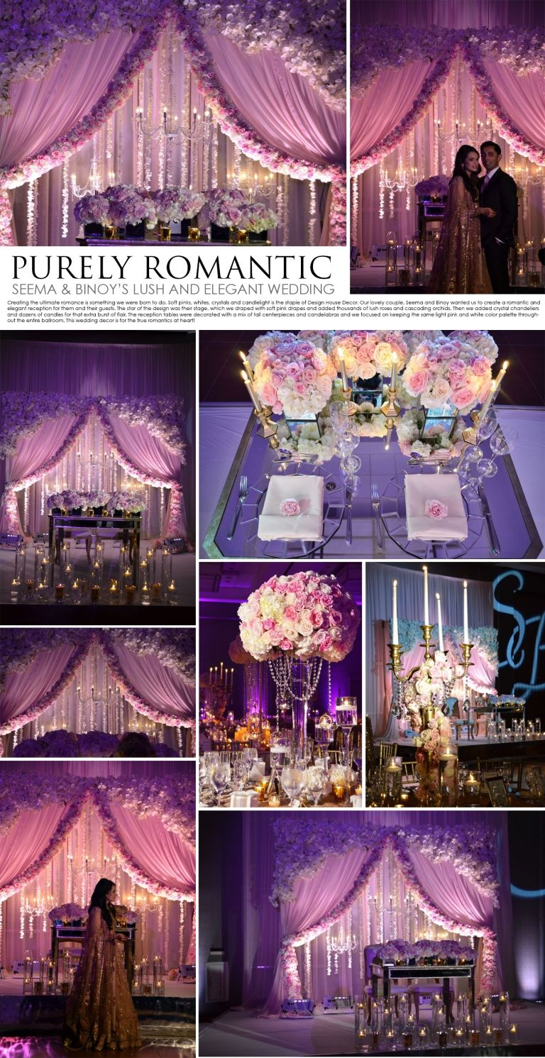 Royal wedding stage decoration  purely romantic pink and white wedding  Banquet pink and white