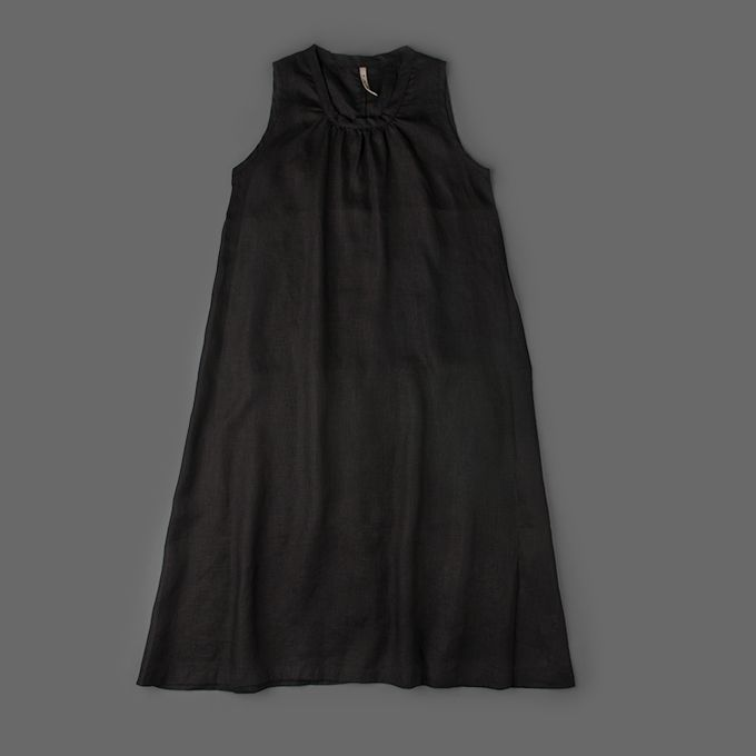 51827d5611a Mill Mercantile - Fog Linen Works - Celia No-Sleeve Dress in Black ...
