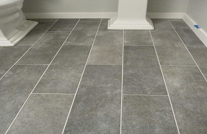 Gray Ceramic Tile Floor Design In Rectangular Shape Pic Id 678