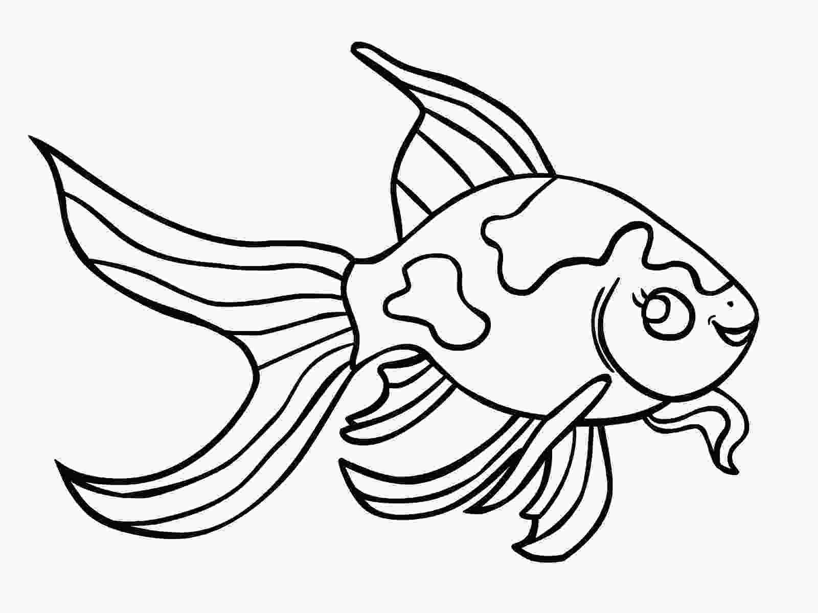 Fish To Color Printable Fish Coloring Page Valentines Day Coloring Page Animal Coloring Pages