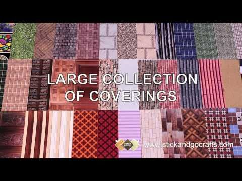 Wallpaper Decorating A Dolls House With Stick And Go Youtube Doll House Flooring Doll House Wallpaper Doll House