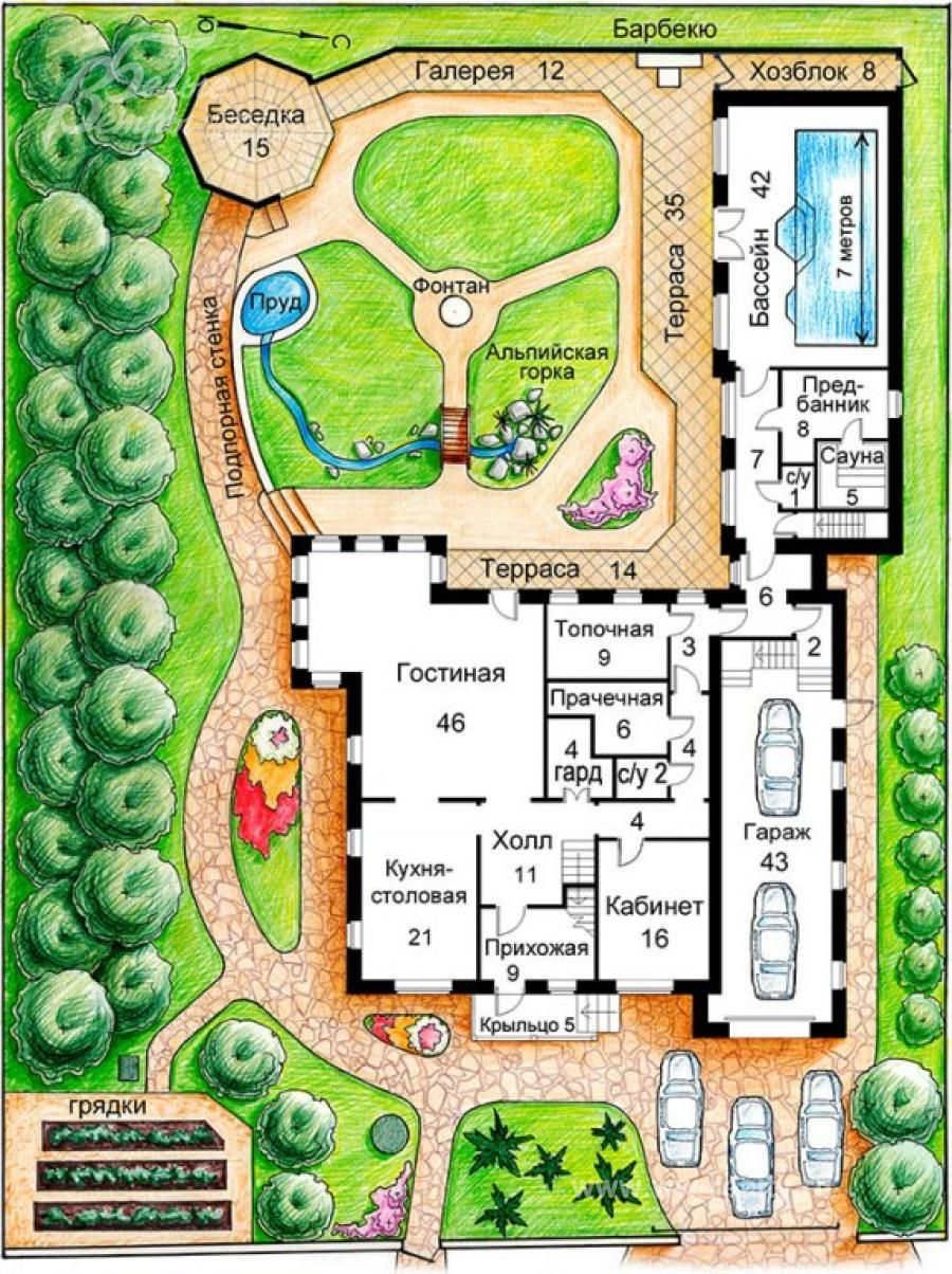 ландшафтный дизайн участка 15 соток - Поиск в ...