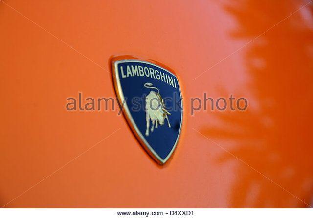 Lamborghini Emblem Dubai United Arab Emirates Stock Image