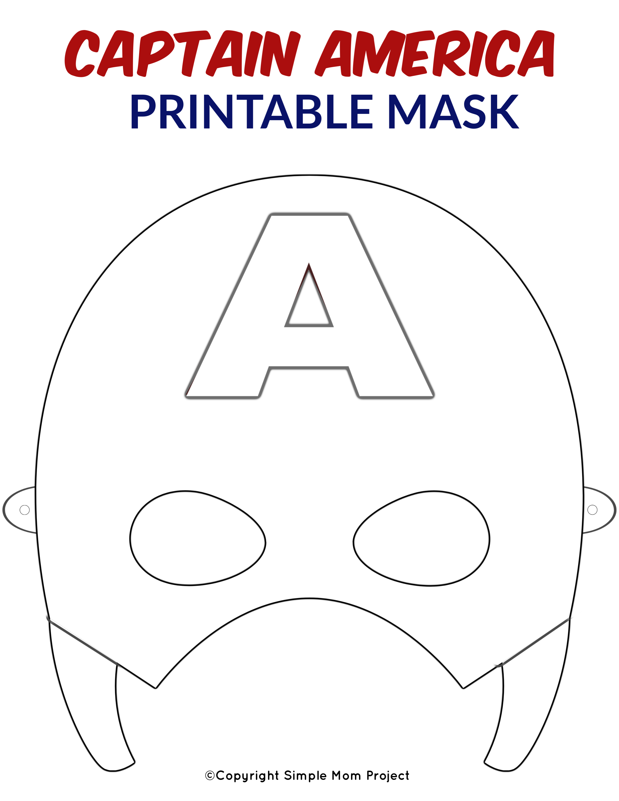Pin By Eileen Caroline On Mascaras Captain America Coloring Pages Captain America Mask Superhero Mask Template