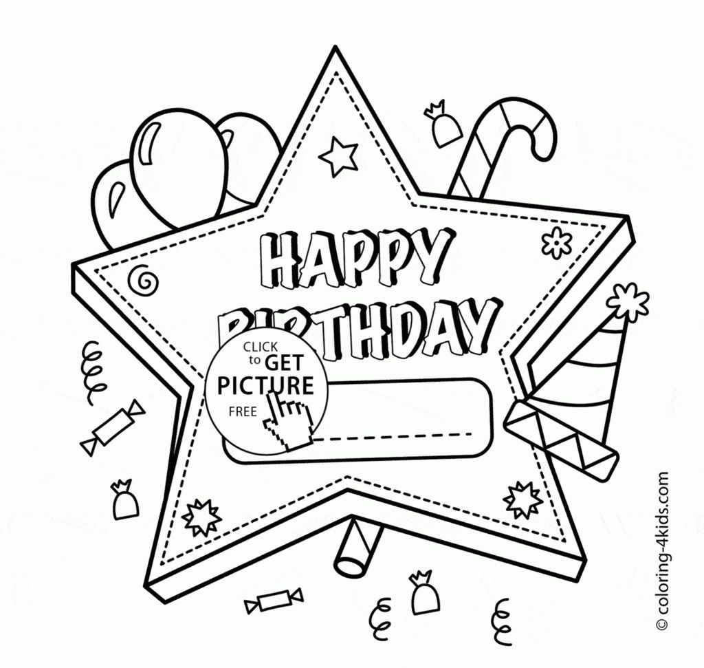Happy Birthday Coloring Card New Coloring Book World Astonishing Happy Birthday Coloring