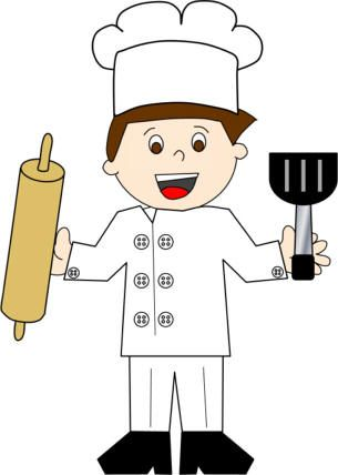 Chef or baker paper craft boy or girl Nutrition Crafts