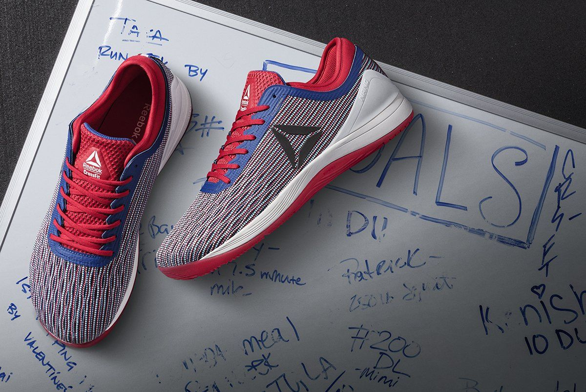 04e4621fc8f The Reebok CrossFit Nano 8 Flexweave in Red Blue Nation has arrived! Get  yours today and train like no other.