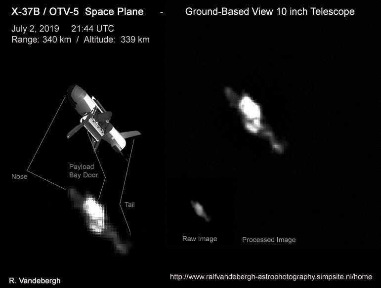 Mysterious X37B Military Space Plane Caught on Camera