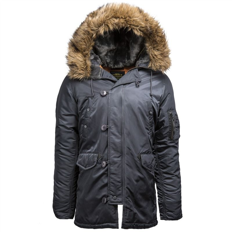Alpha Industries Slim Fit N-3B Parka | Men's fashion | Pinterest