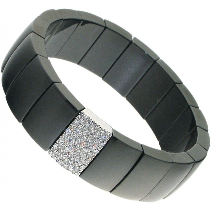 Domino Black Ceramic Bracelet Diamonds are a Girls Best Friend
