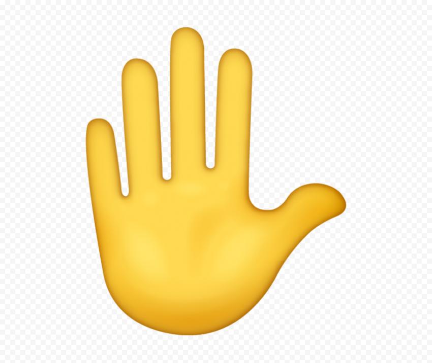 Hd Stop Hand Sign Emoji Png Hand Emoji Raised Hands Emoji Emoji