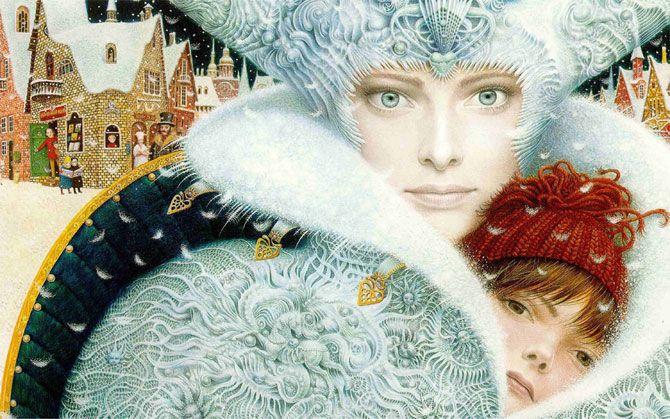"Hans Christian Andersen's ""The Snow Queen"" ~ Ukrainian Fairy Tale  Artist-illustrator ~ Vladislav Erko | Illustration, Fairy tales, Snow queen"