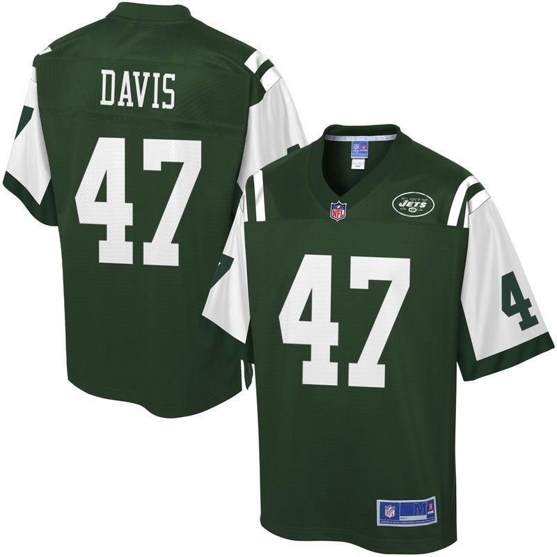 NFL Pro Line Mens New York Jets Kellen Davis Team Color Jersey