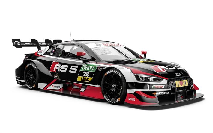 Download Wallpapers Audi Rs5 Dtm Loic Duval 2018 Racing Car Tuning Rs5 Deutsche Tourenwa Audi Rs5 Audi Audi Sport