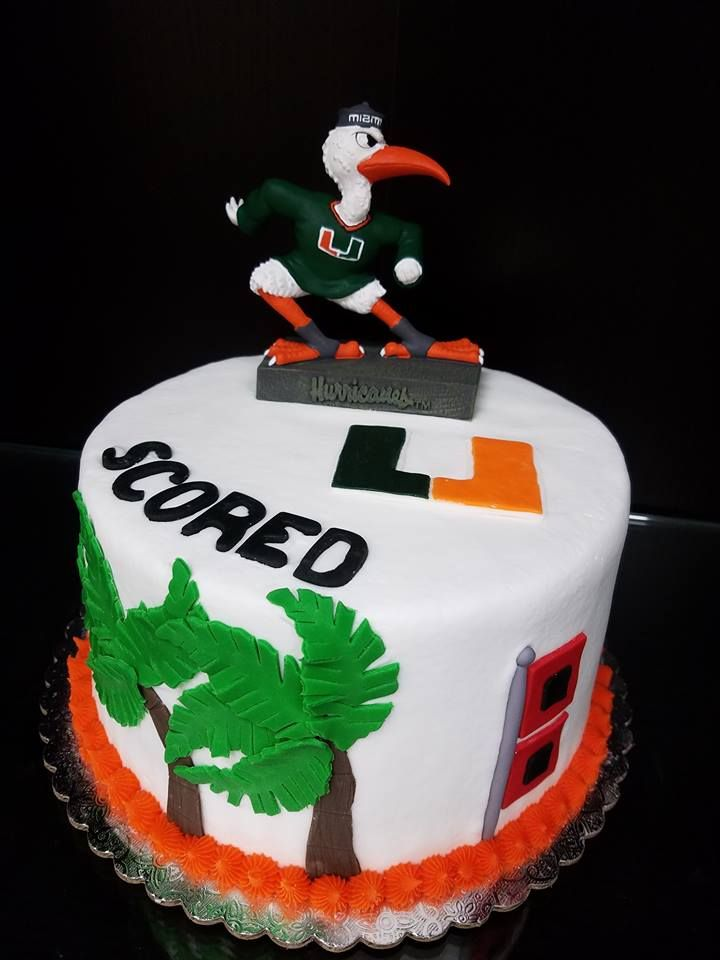 Miami Hurricanes Grooms Cake College Theme Cakes Pinterest