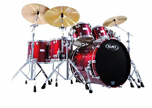 Mapex Saturn Series   Plus Bass Fusion Pop 22  7 Piece Shell Pack     Mapex Saturn Series   Plus Bass Fusion Pop 22  7 Piece Shell Pack  Cherry  Sparkle Dw Drums For Sale Beginner Drum       Top 10 Full Drum Set For Sale    Pinte