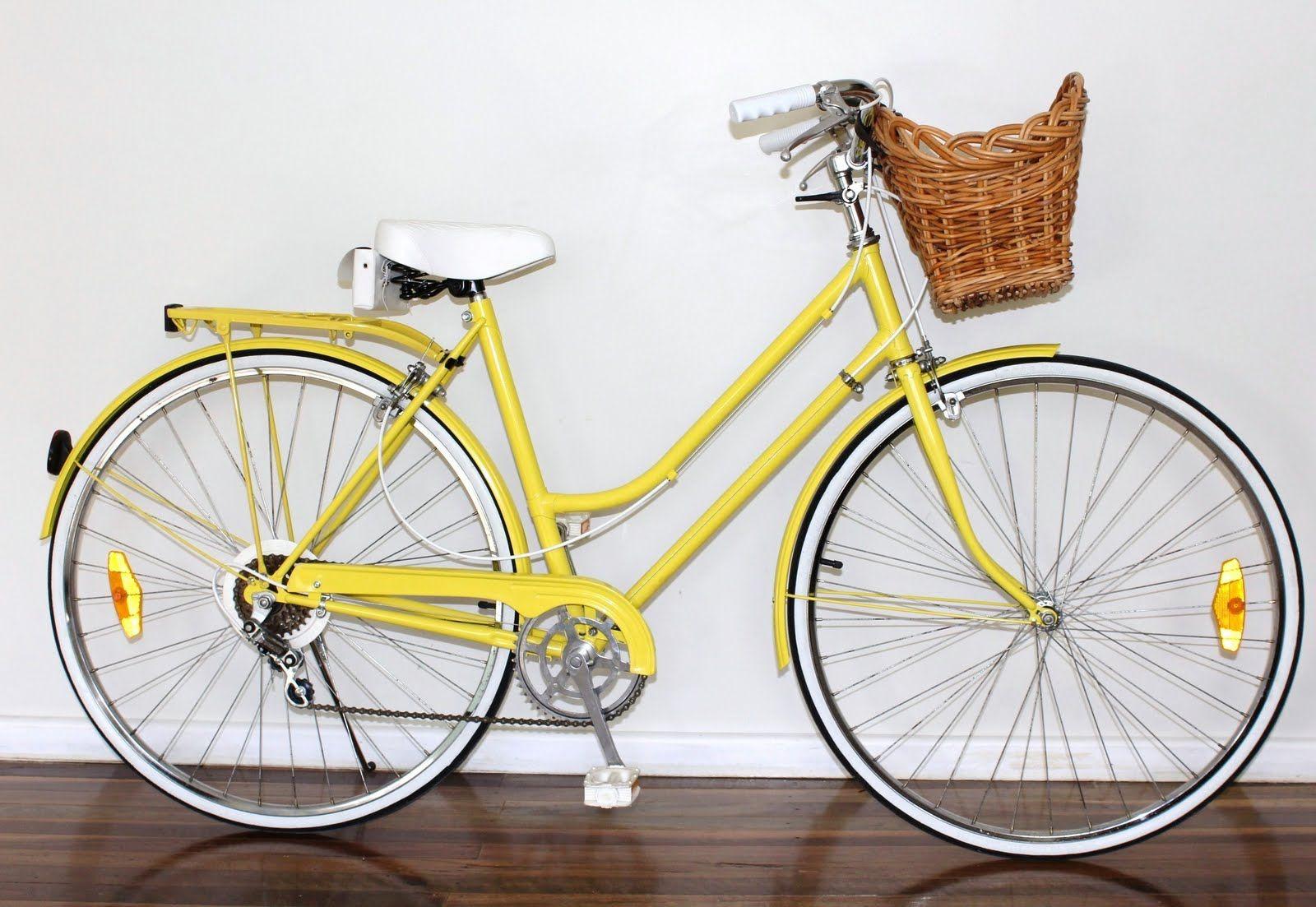 Yellow Like The Sunshine Bicycle Bike Vintage Bikes