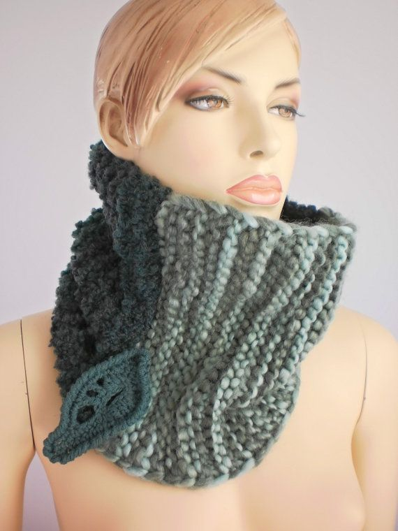Hand Knit Cowl Scarf Neck ♥ by levintovich | Hand knit ...