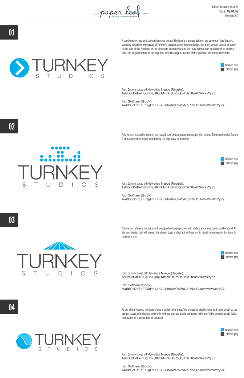 Example of client proposal for logo design. Logo design