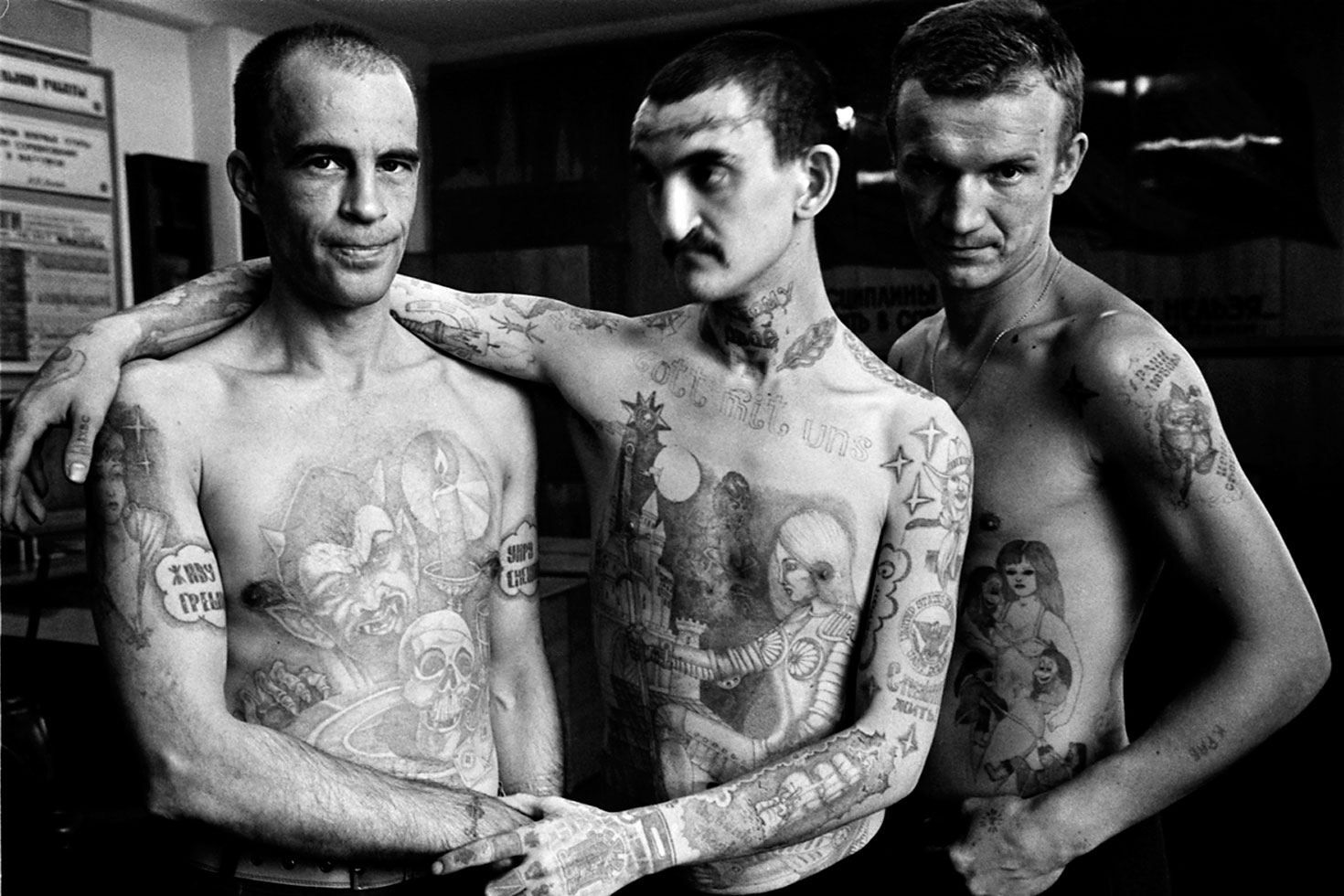 Russian Prison Tattoos Gang tattoos, Neck tattoo