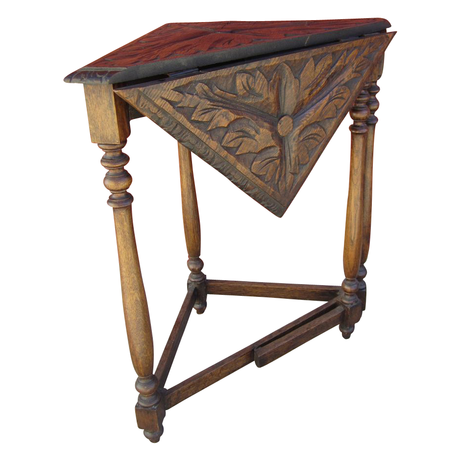 Victorian furniture table - Victorian Antique Drop Leaf Corner Table Antique Furniture