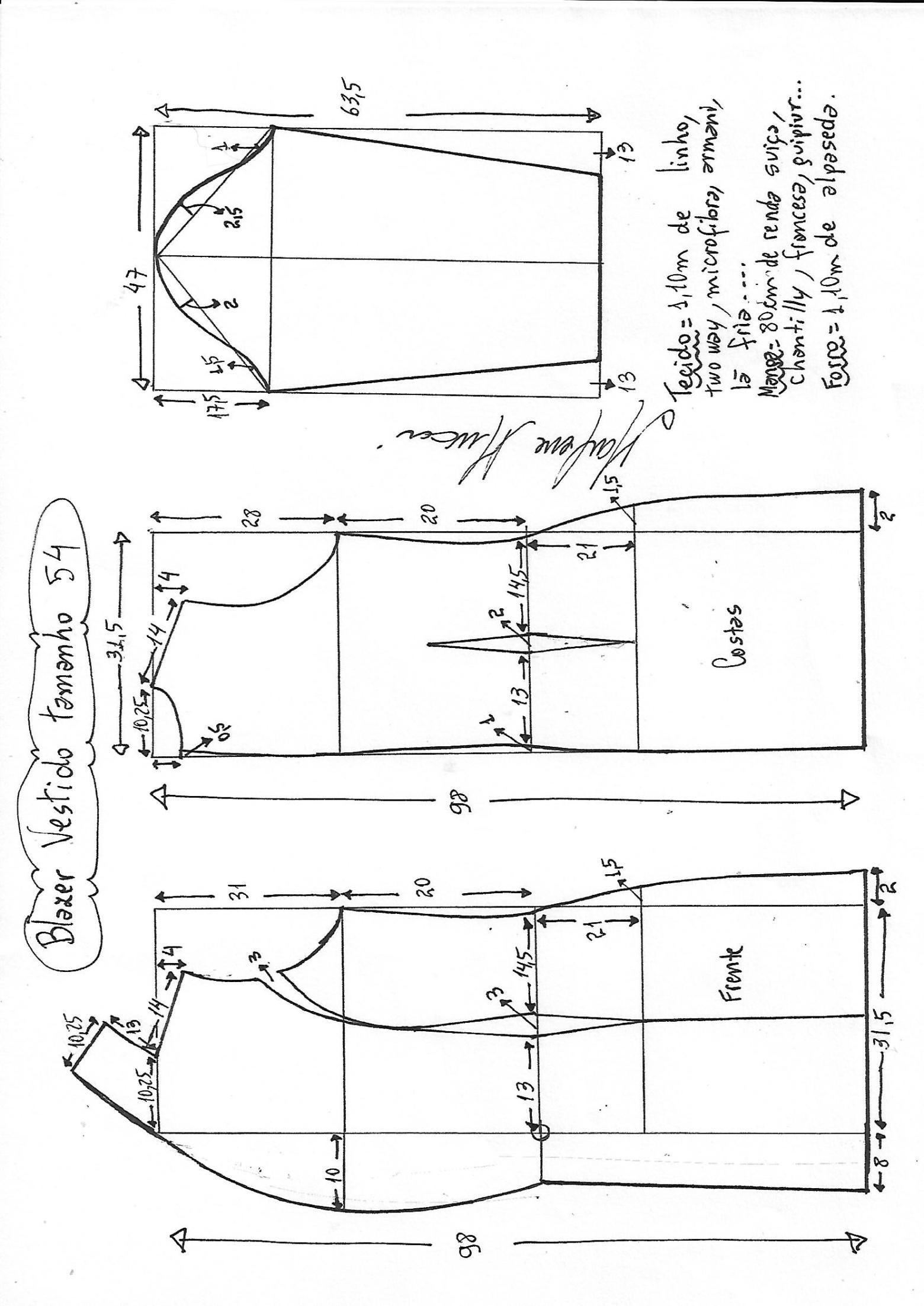 Blazer vestido manga de renda | DIY - molde, corte e costura ...