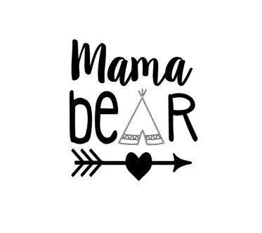 DIY Mama Bear Heat Transfer Vinyl Decal By MiltonMonograms On Etsy