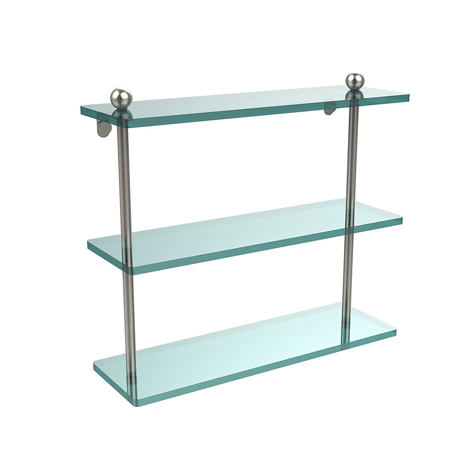 Allied brass prsn x triple glass shelf satin nickel ueueue see