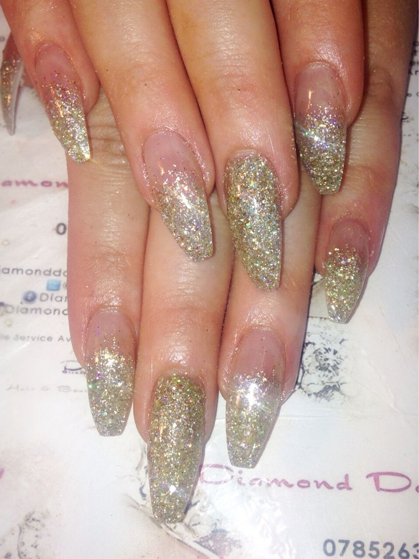 Glitter coffin nails by Diamond Dolls Beauty | nails | Pinterest ...
