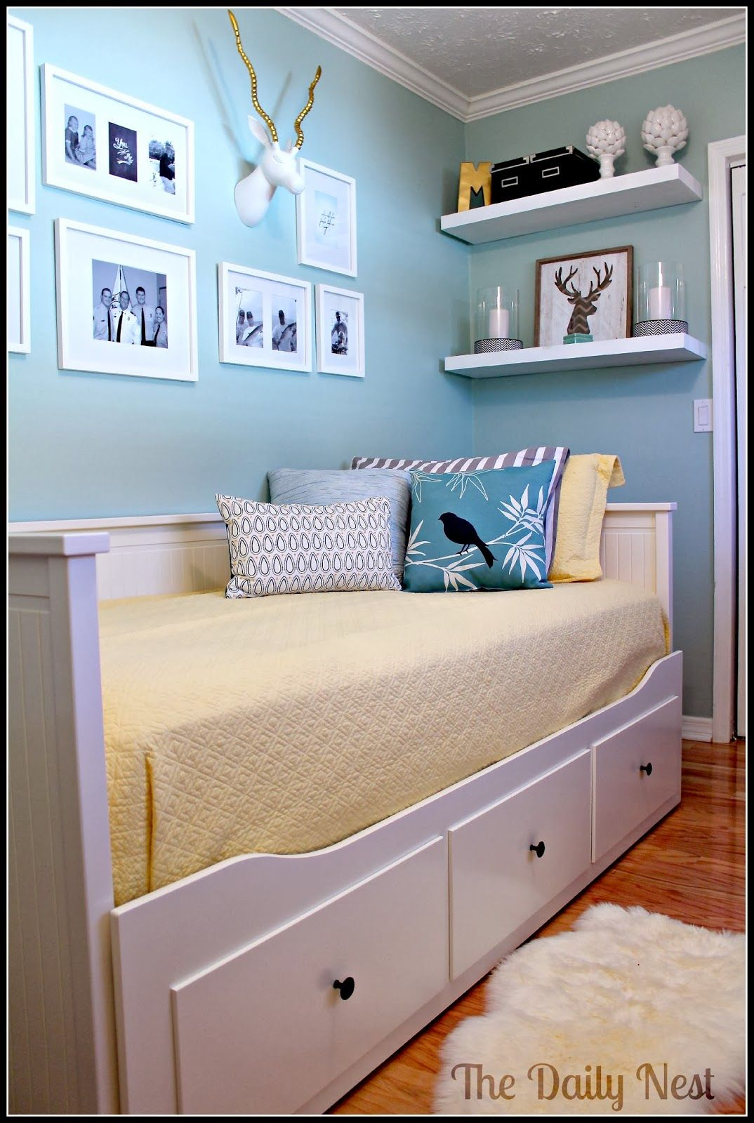 Best Kitchen Gallery: Feature Friday The Daily Nest Hemnes Empty And Nest of Ikea Small Guest Bedroom on rachelxblog.com
